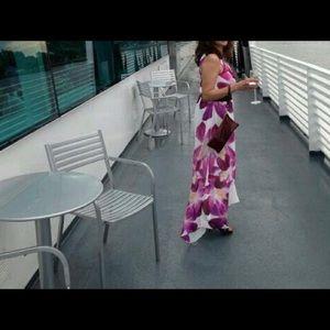 Flowing chiffon maxi dress , with full lining ,